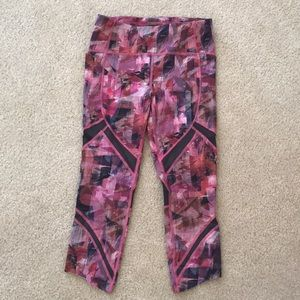 Lululemon pink patterned leggings